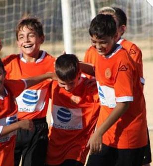 Equipo alevín de la asociación deportiva Los Mares